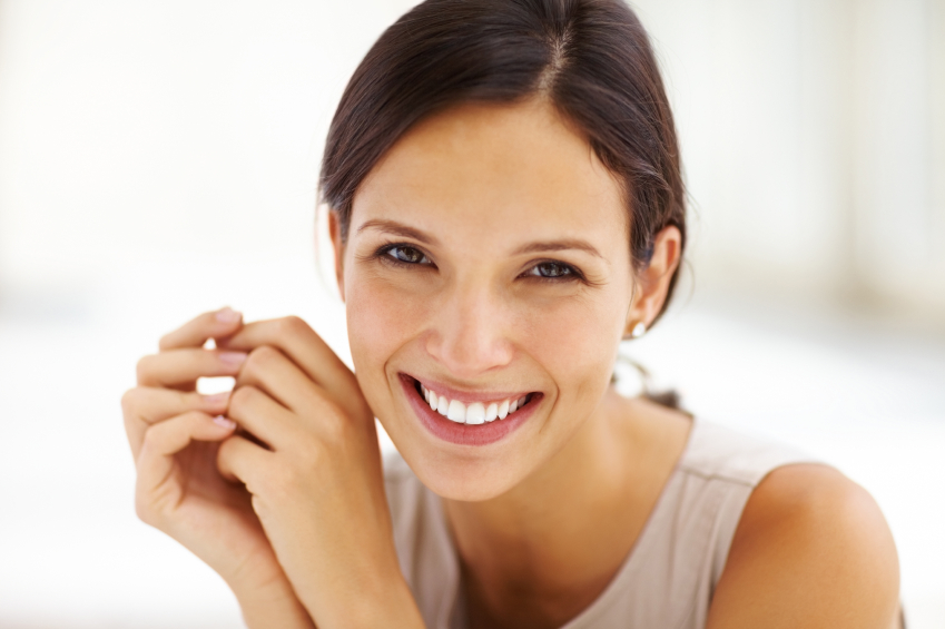 woman smiling with beautiful smile