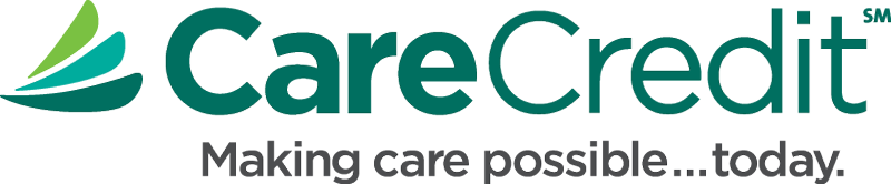 The care credit logo and green Care Credit font